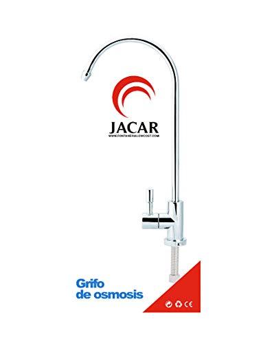 Jacar | Grifo de Ósmosis Inversa 1/4 para Fregadero de Cocina | Sistema de Filtración de 5 Etapas | Heco en Acero Inoxidable | Cartucho Ceramico para tubo de 6 mm | Fácil de Instalar