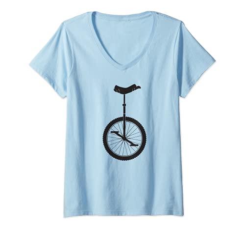 Mujer Monociclo bicicleta monociclista niños niña retro vi
