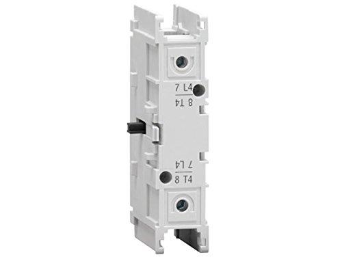 Cierre eléctrico cuarto polo, con apertura simultánea al seccionador, 100A, cierre adelantado, 2 x 10 x 7 centímetros, color gris claro (Referencia: GAX42100C)