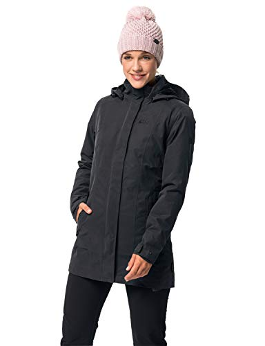 Jack Wolfskin Damen Madison Avenue Coat Mantel, Grau (phantom), S