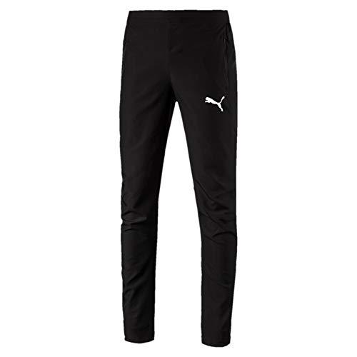 Puma Liga Sideline Woven P Pantalones, Hombre, Negro Black White, L