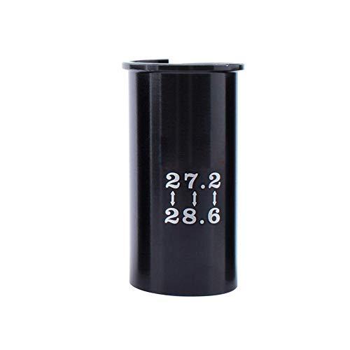 Manguito de sustitución Tija de sillín Adaptador Reductor del Asiento Duradero de aleación de Adaptador de Asiento de la Bici del Tubo del Asiento 27,2-28,6 Tipo 1pc.