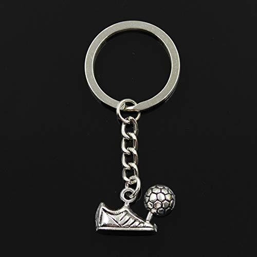 N/ A SGDONG Fashion 3Cm Sleutelhanger Metalen sleutelhanger Sleutelhanger Zilver Kleur Plated Voetbal Laarzen 15X23Mm Hanger
