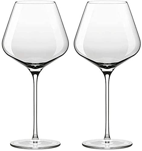 ZRDSZWZ Copas de vino tinto fiables juego de 2 exquisitos vasos de cristal aptos para lavavajillas para Navidad 708 ml (color claro)