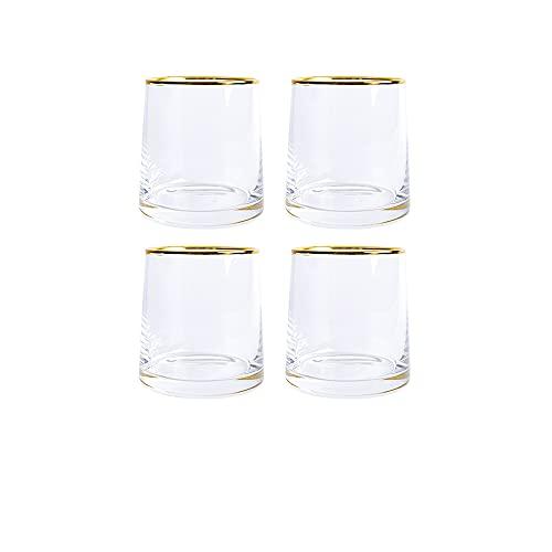 Guoz Copa de Vino Sin Tallo (Pack de 4),Juego de Copas Cristal Inastillable Copa Vino para Vino Tinto o Blanco,Ginebra,Zumo y Cocteles