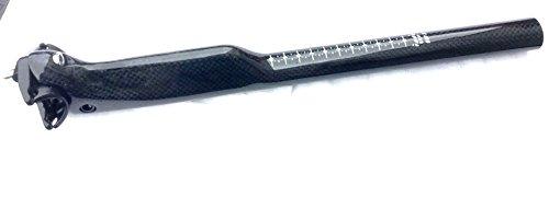 voll Carbonsattelstütze Aero Sattelstütze für Zeitfahren Triathlon 31,6 mm Länge 350/400 mm neu (Glossy, 350)