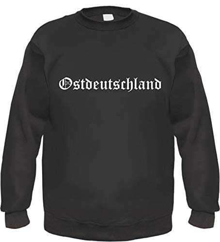 Ostdeutschland Sweatshirt - Altdeutsch - Bedruckt - Pullover L Schwarz