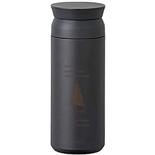 [名入れ無料] KINTO トラベルタンブラー 500ml キントー タンブラー 水筒 保温 保冷 真空二重構造 オシャレ マイボトル ギフト プレゼント (ブラック, 【ボトル】ネイチャー)