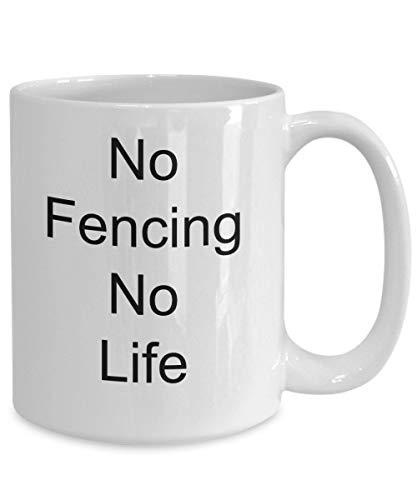 Schermen Koffie Mok Zwaard Vechten Geen Leven Geen Cadeau
