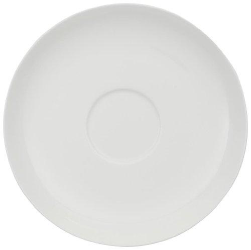 Villeroy & Boch Home Elements Cappuccino-Untertasse, 18 ml, Premium Porzellan, Weiß