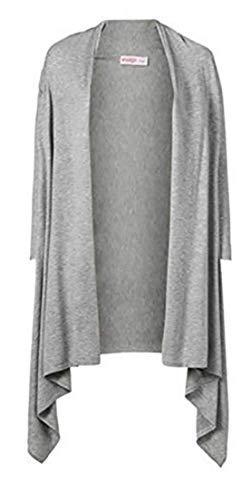 Giacca a maglia lunga di sheego in grigio mélange grigio. 46