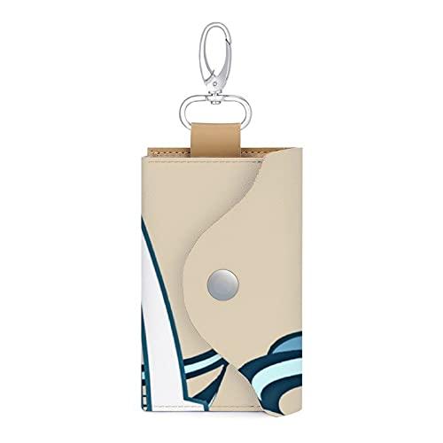 Bolsa para llaves de coche de piel sintética con diseño de barco de vela
