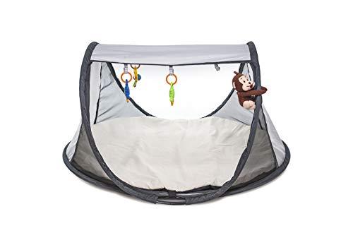 DERYAN Play Gym - Centre d'activités - Tente bébé - Pop Up - Facile et rapide à installer - Avec sac de transport - Silver
