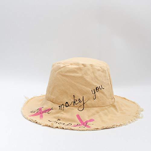 KFEK Sombrero versión Coreana del Sombrero de Pescador Sombrero para el Sol al Aire Libre Arte japonés Cuenca de Ocio Cap Sombrero para el Sol A20