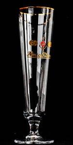 Unbekannt König Pilsener Pokal Bierglas mit Goldrand Ritzenhoff 0,3l frühere Ausführung 6 Stück