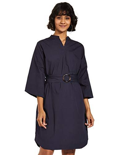 Amazon Brand – Symbol Women's Cotton Wrap Knee-Length Dress