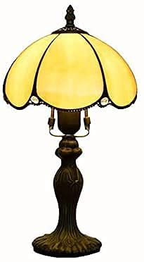 Lámpara de mesa retro lámpara de cristal hecha a mano vintage de 8 pulgadas dormitorio de noche lámpara de noche estilo europeo sala de estar restaurante bar E27 Lingzhigan