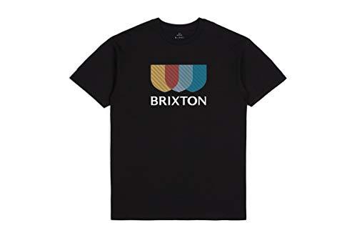 BRIXTON Alton II S/S STT Camiseta, Negro, M para Hombre