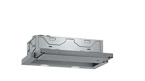 Neff Campana extractora D46BR12X6 N30 de 60 cm, salida de aire o recirculación, clase energética C, color plateado
