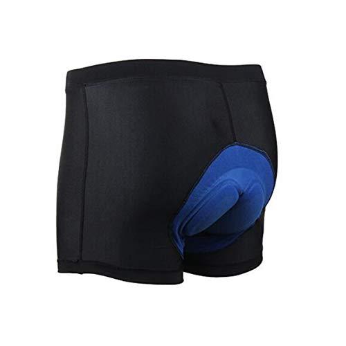 MINASAN Damen Herren Radunterhose 3D Gel Gepolsterte MTB Fahrrad Unterwäsche 3D Fahrradunterhose für Radfahren Reiten Tour (Herren Silikon Shorts, L)