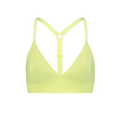 PUMA Women Triangle Bralette 1P Camiseta, Yellow, L para Mujer