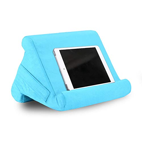Puimentiua Pillow Lap Holder Tablet Pillow Cushion Stand with Net Pocket Compatible with New 2020 iPad Pro 9.7, 10.5, 12.9, iPad Air Mini 2 3 4, Switch, Samsung Tab, iPhone, Books