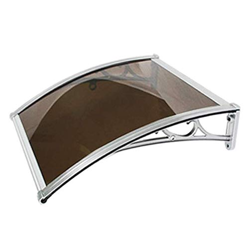 Canopy Door Awning Window Rain Shelter Cover Front Back Porch Outdoor Shade Patio Roof Soundproof, Weather Proof 5 Colors And 6 Sizes (Color : Brown, Size : 60cmx100cm)