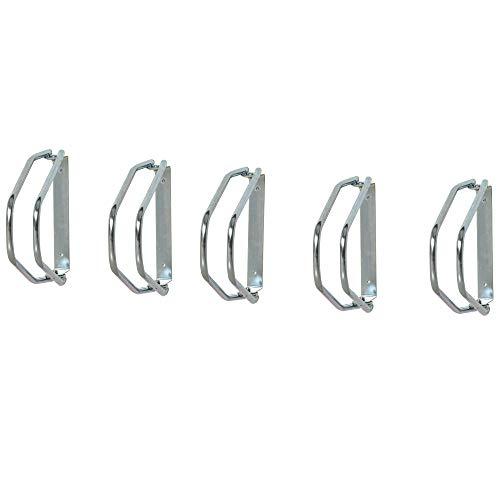 HOMCOM Fahrradparker Fahrradständer Mehrfachständer Bügelparker Boden- und Wandmontage Stahl Silber 5 Fahrräder 29 x 32,5 x 8,2 cm