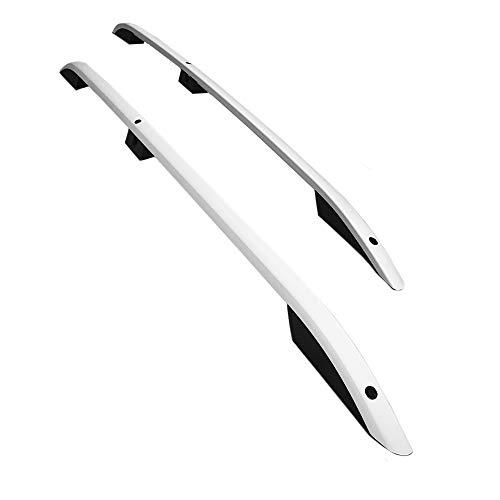 accessorypart Barras de Techo Aluminio rieles Portaequipajes Barras Superiores Rail laterales juego para Dacia Dokker 2012-2021 Gris