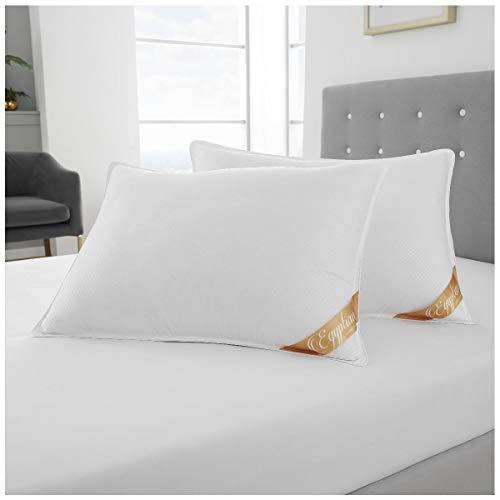 Gaveno Cavailia 2 Stück Mikrofaser in Hotelqualität, superweich, mittelfest, Anti-Staubmilben, fühlt Sich an wie Daunenkissen, 100% Polyester, weiß, 50 x 70 cm