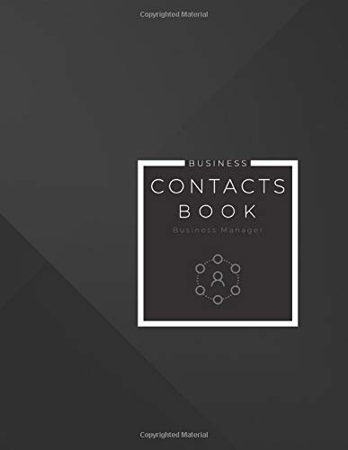 Business Contacts Book: Contacts Manager for Small Business Owners