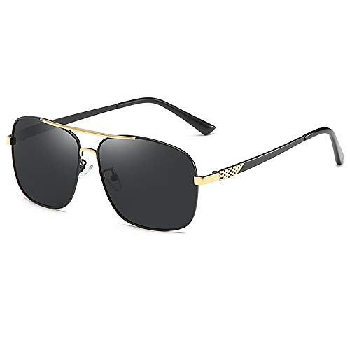 Gafas De Sol para Hombre Y Mujer Moda Polarizadas Gafas ProteccióN para ConduccióN Gafas De Deportes Al Aire Libre De Pesca De Moda Regalo de San Valentín (Color : Black1)