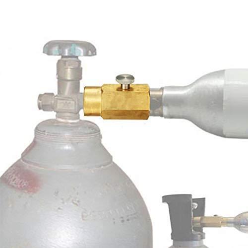 nologo Victool co2 Adapter zum Befüllen Sodastream Soda Club-Tanks Nachfülladapter Anschlusskit Wasser Carbonator W21.8