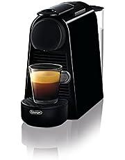 De'Longhi Nespresso Essenza Mini EN 85.B ekspres do kawy na kapsułki Welcome Set z kapsułkami w różnych smakach ciśnienie 19 bar, oszczędność miejsca, czarny