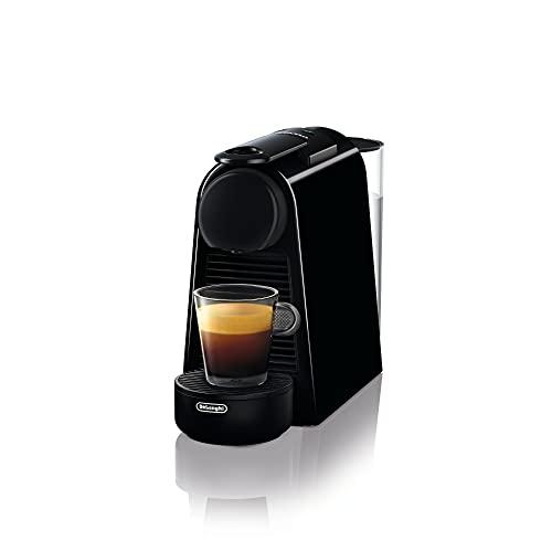 De'Longhi Nespresso Essenza Mini EN 85.B Kaffeekapselmaschine Welcome Set mit Kapseln in unterschiedlichen Geschmacksrichtungen 19 bar Pumpendruck, Platzsparend, Schwarz