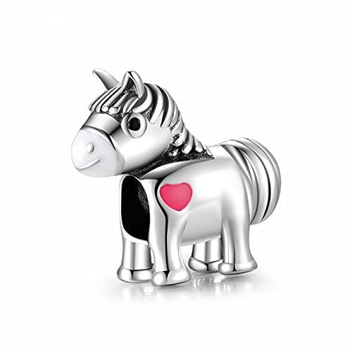 YYFHHK Amuletos De La Suerte Plata De Ley 925 Encantadores Abalorios De Vaca Accesorios Encantos para Mujeres Se Adapta A Pulseras De Bricolaje Regalos De Fabricación De Joyas