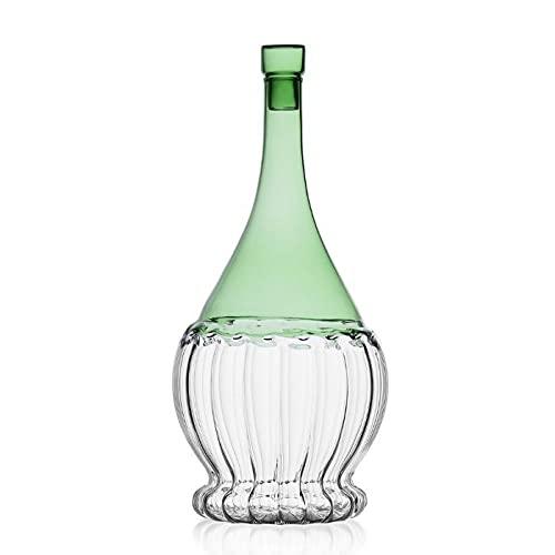 Ichendorf Petaca para agua y vino de cristal de colores Garden Picnic...