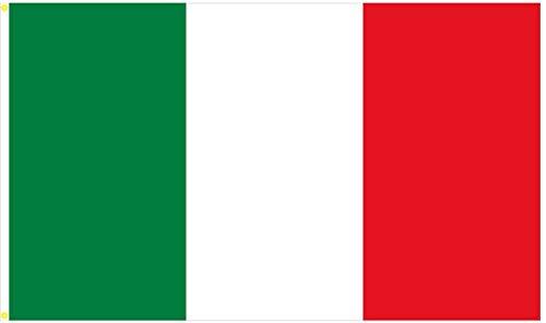 BGFint Italien Fahne Flagge Italia 150 x 90 cm mit Ösen Stoff 100g/qm