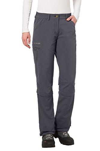 VAUDE Damen Hose Farley Zip Off Capri Pants, Basalt, 40, 04665