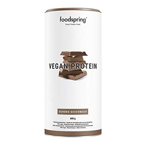 foodspring Vegan Proteïne poeder, Chocolade, 600 g, veganistische meercomponentenproteïne voor spieropbouw