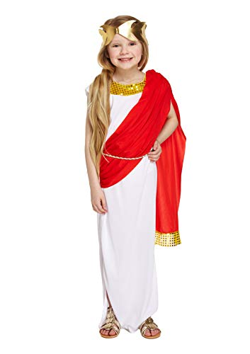 HENBRANDT Girls Disfraz Griego Disfraz de Diosa Romana Edad 7 - 9