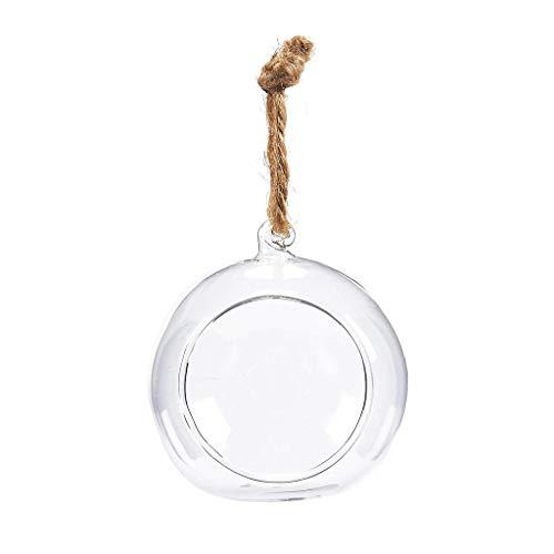 DFVVR - Florero colgante de cristal, maceta para terrario, decoración del hogar, boda