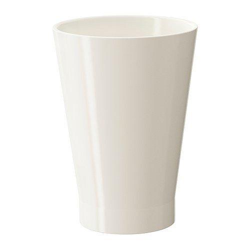 IKEA PAPAJA Übertopf in weiß; (12x19cm)