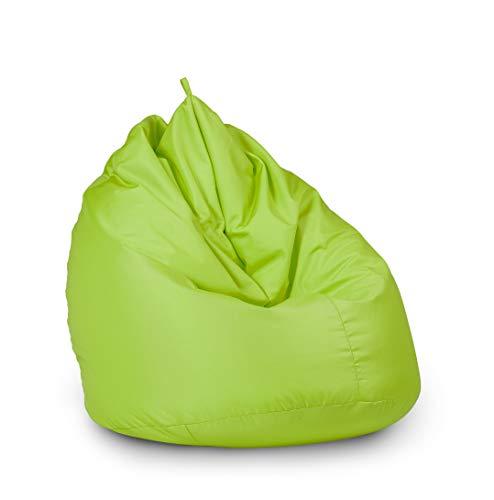 haus & garten Sitzsack Indoor/Outdoor, für Kinder und Erwachsene, viele Farben und Größen zum Auswahl (65x95, Grün)