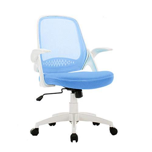 Bürostuhl / Bürostuhl, 360° drehbar, atmungsaktiv, Kunstleder, höhenverstellbar, Blau