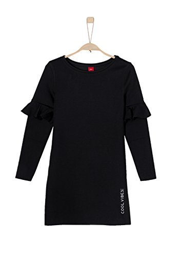 s.Oliver Mädchen 66.801.82.2692 Kleid, Schwarz (Black 9999), 170