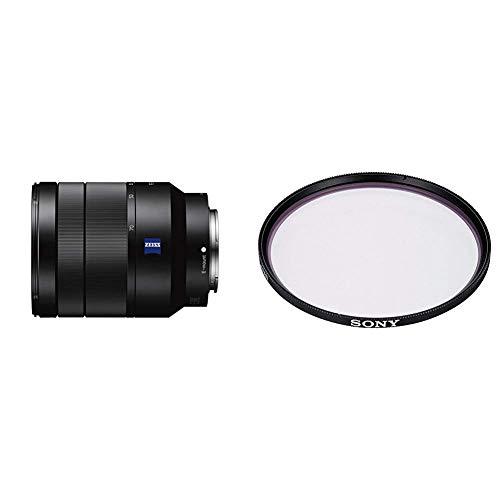 Sony SEL-2470Z Zeiss Zoom-Objektiv (24-70 mm, F4, Vollformat) schwarz + Sony VF-67MPAM Carl Zeiss T MC-Schutzfilter (67 mm)