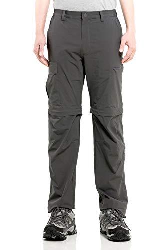 Cycorld Herren Wanderhose Outdoorhose, Atmungsaktiv Stretch Herren Trekkinghose mit 5 Tiefe Taschen (Dunkelgrau, 3XL)