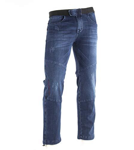 Jeanstrack Turia Jeans Pantalón de Escalada, Hombre, Jean, M
