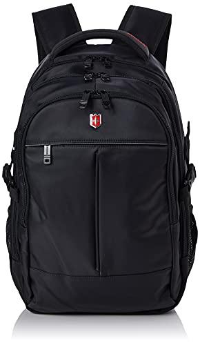 Swiss Ruigor Unisex RG6187 Laptop-Rucksack, Schwarz, One Size